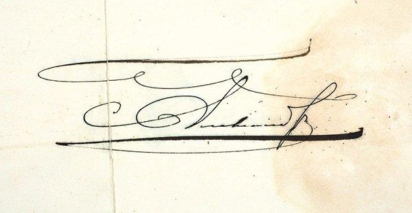 Автограф Александра II