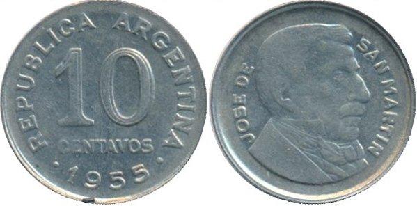 10 сентаво 1955 г.