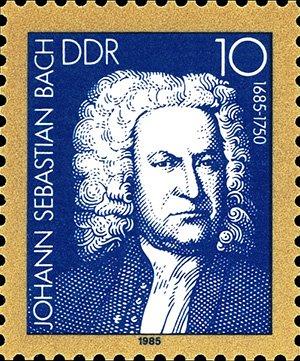 ГДР, 1985 год, 300-летие со дня рождения композитора Баха
