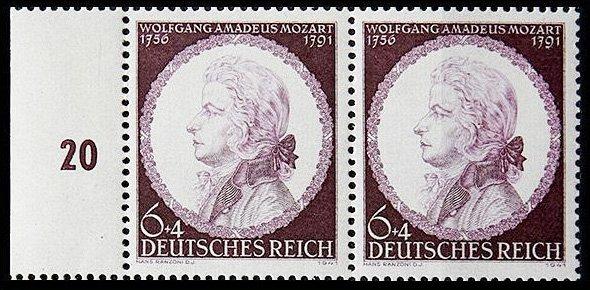 Германия (Третий Рейх). 1941. 150-летие со дня смерти В. А. Моцарта