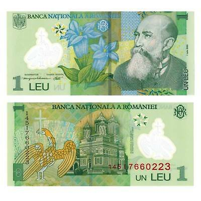 Банкнота 1 лей 2005 года. Румыния
