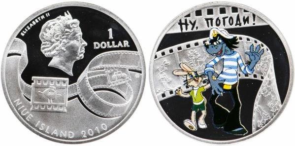 1 доллар «Ну, погоди!», Ниуэ, 2010 год