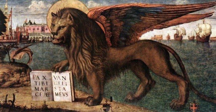 Крылатый лев – символ евангелиста Марка