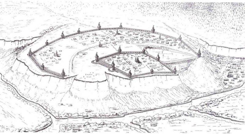 Рисунок старой крепости Белгорода