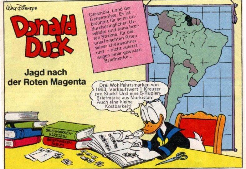 Страница комикса о «Розовой Гвиане» (немецкая версия)