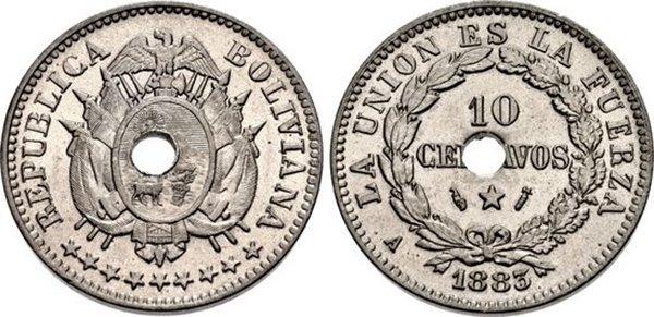 10 сентаво 1883 г.
