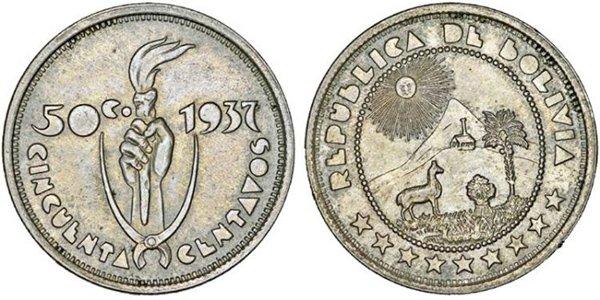 50 сентаво 1937 г.