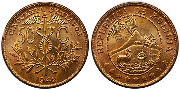 50 сентаво 1942 г.