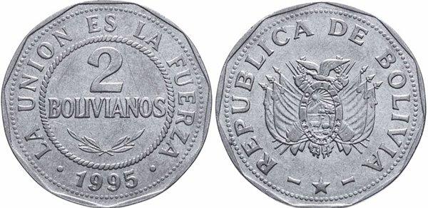 2 боливиано 1995 г.