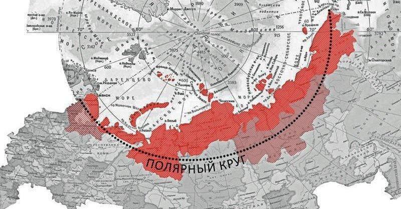 Карта Арктической зоны Российской Федерации