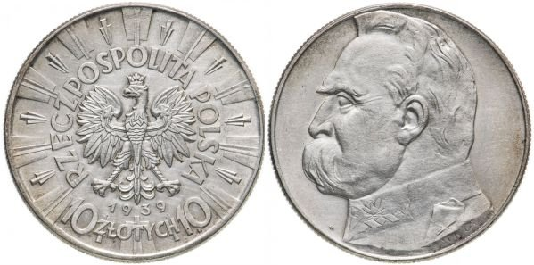 10 злотых, Польша, 1939 год