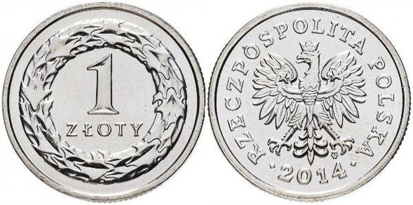 1 злотый, Польша, 2014 год