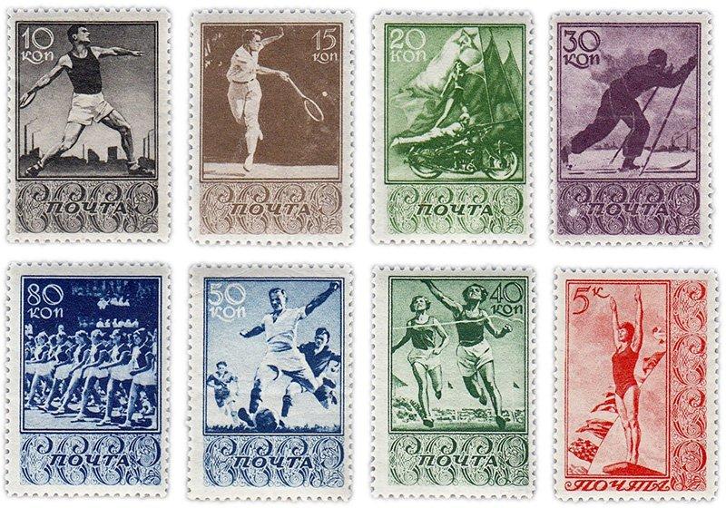Серия «Спорт», 1938 г.