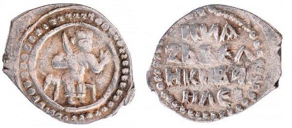 Денга. Василий I (сын Дмитрия Донского). 1389-1425 гг. Серебро, 0,6 г