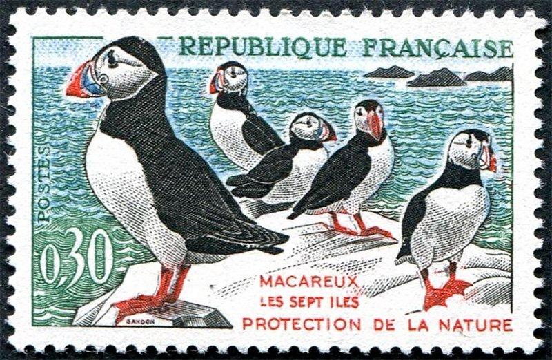 Почтовая марка Франции (металлография)