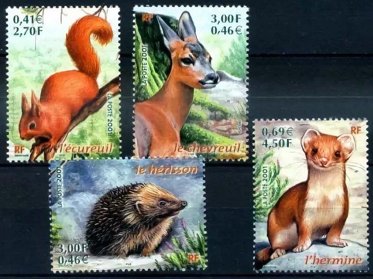 Серия почтовых марок Франции 2001 года