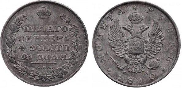 Рубль 1810 года, Санкт-Петербургский монетный двор