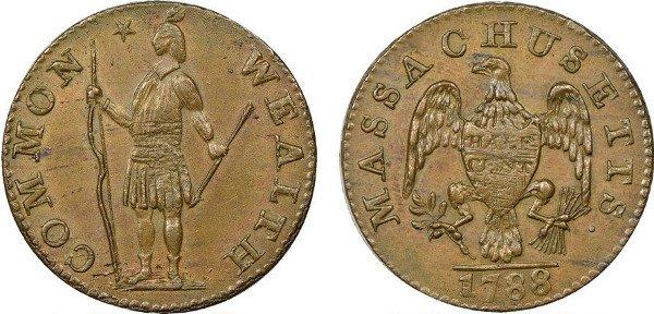 Массачусетс. 1 цент. 1788 год