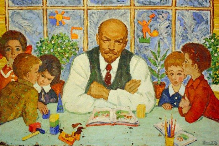 Картина И.Я. Шенкера «Ленин и дети», 1968 год