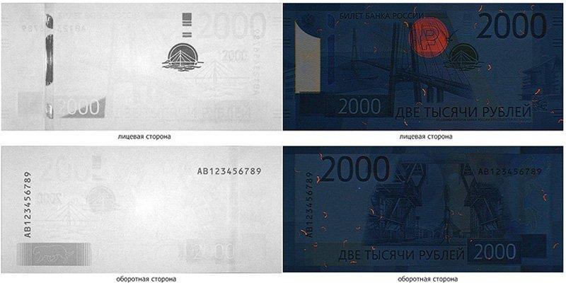 Банкноты в инфракрасном свечении и ультрафиолете