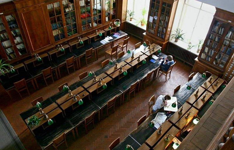 Историческая библиотека в Главном здании МГУ, 2016 год
