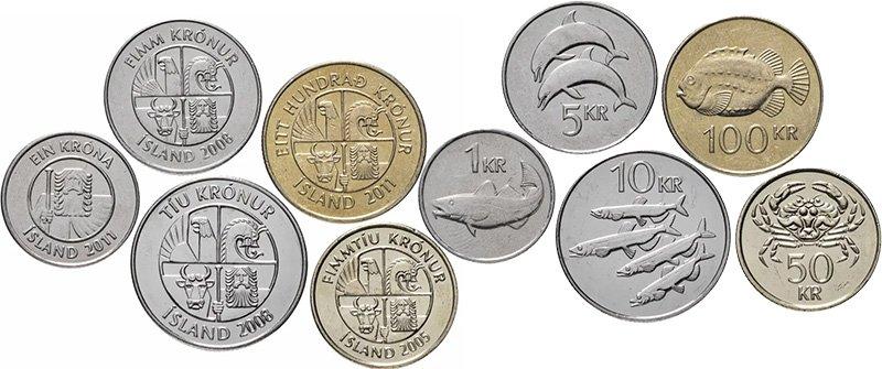 Циркуляционные монеты Исландии 2005-2011 гг.