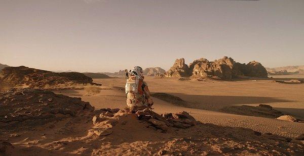 Кадр из кинофильма «Марсианин», съемки которого проходили в иорданской пустыне Вади Рам