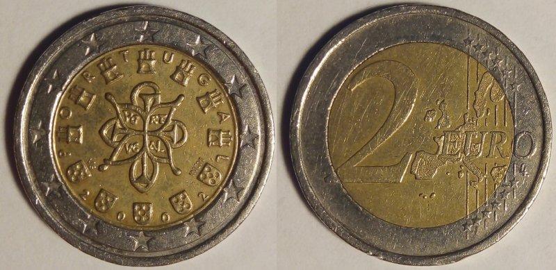2 евро 2002 года, изначальный вид