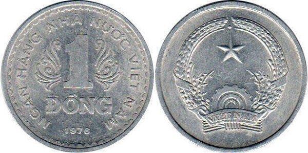 1 донг. 1976 год. Социалистическая Республика Вьетнам. Алюминий