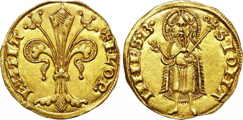 Золотой флорин из Флоренции (1252-1260)