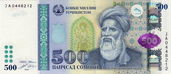 500 сомони образца 2009 года