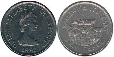 10 пенсов острова Джерси