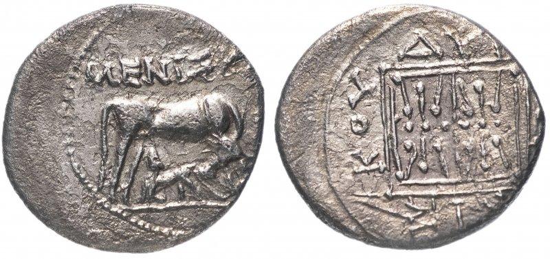 Древняя Греция, Иллирия, г. Диррахий (229-100гг д.н.э.), драхма