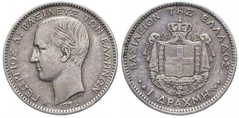 Греция, 1 драхма 1874 года