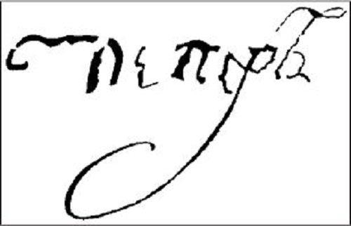 Автограф Петра III