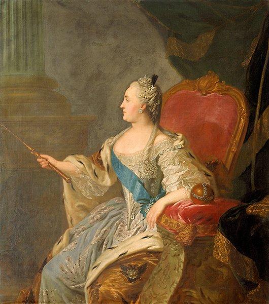 Коронационный портрет Екатерины II. Художник — Ф. Рокотов. 1763 г.