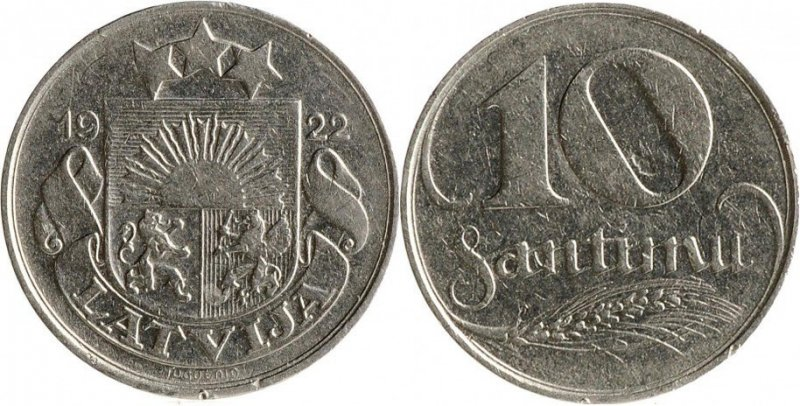10 сантимов 1922 года