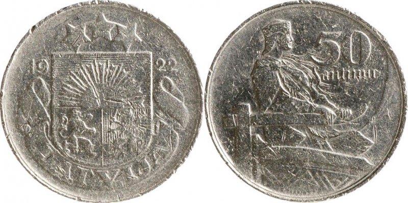 50 сантимов 1922 года