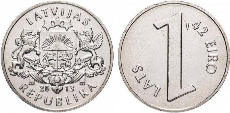 Монета с двойным номиналом