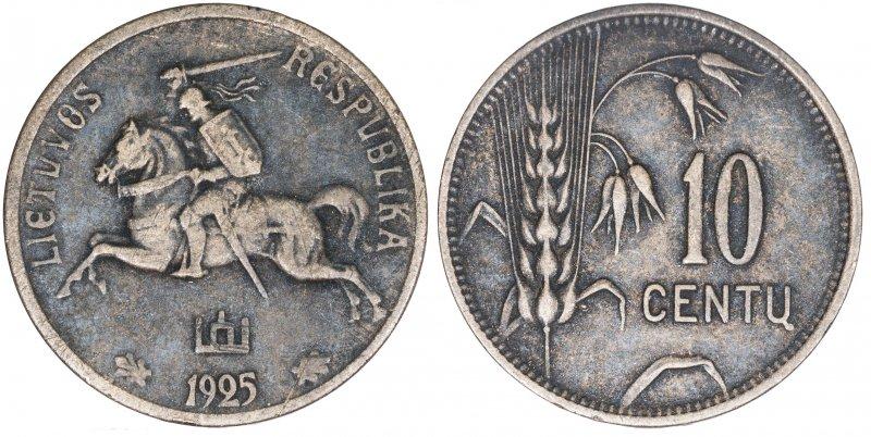 10 центов 1925 года
