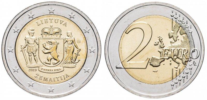 2 евро (2019) Жемайтия