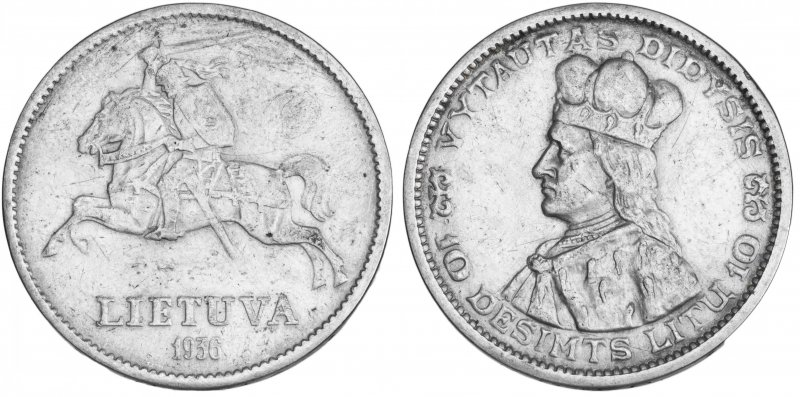 10 лит 1936 года