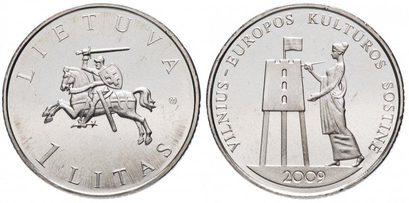 1 лит 2009 года «Вильнюс – культурная столица Европы»