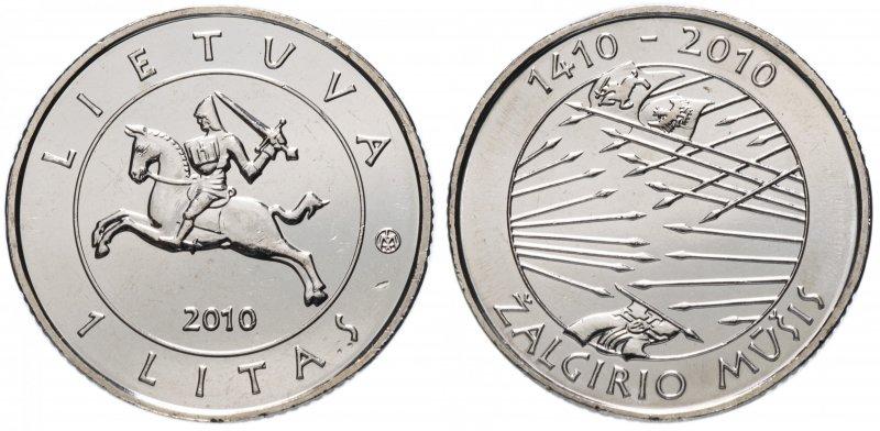 1 лит 2010 года «600 лет со дня Грюнвальдской битвы»