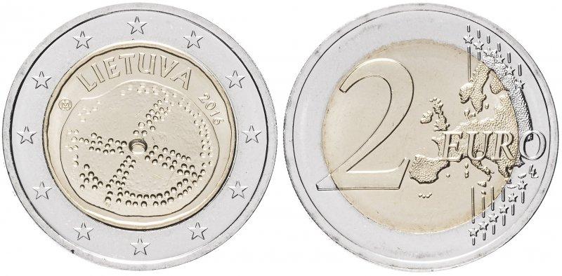 2 евро 2016 года «Балтийская культура»