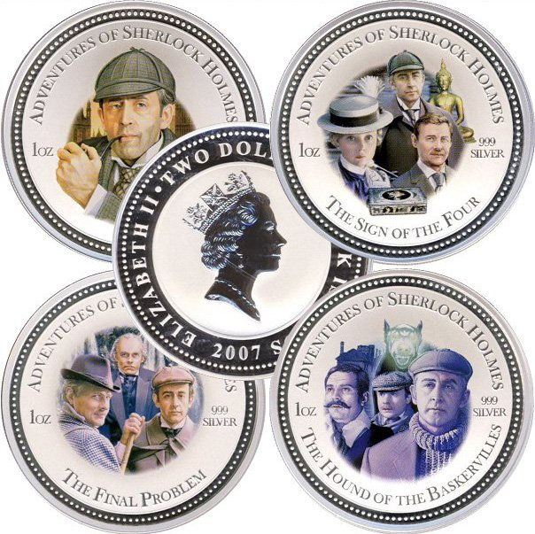 Набор монет о Шерлоке Холмсе, Острова Кука
