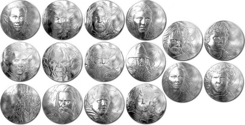 Монеты «Властелин колец», 50 центов