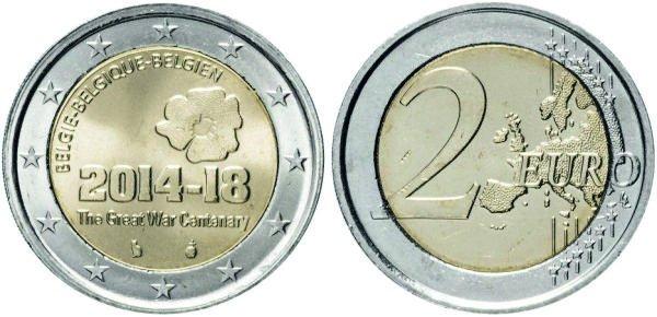 2 евро, 2014 год, Бельгия