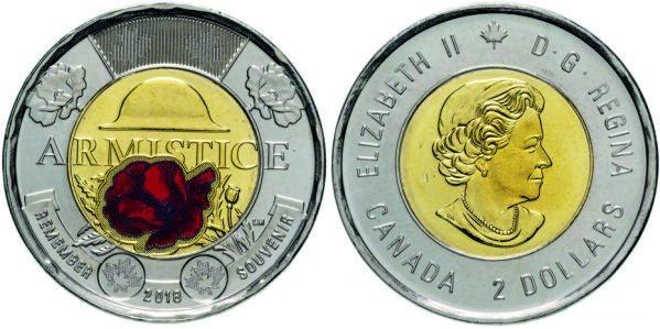 2 доллара, 2018 год, Канада