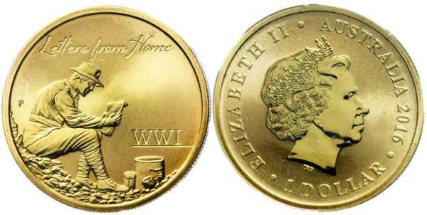1 доллар, 2016 год, Австралия